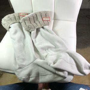 Hi yer boot socks tall knit gray